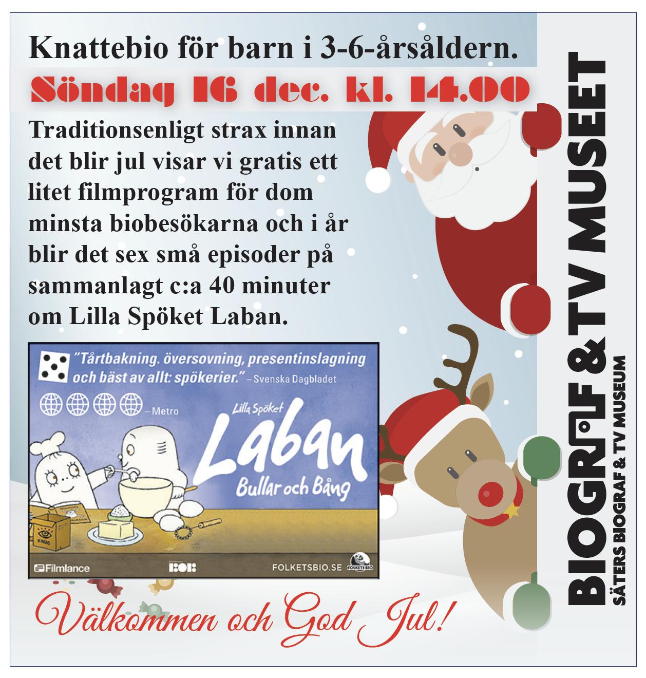 Lilla Spöket Laban – Bullar och Bång. Fri entré. – Biograf och TV ... 8ba150f4ce459